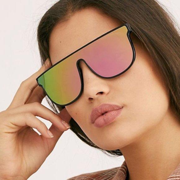 NWT FP visor rainbow oversized sunnies